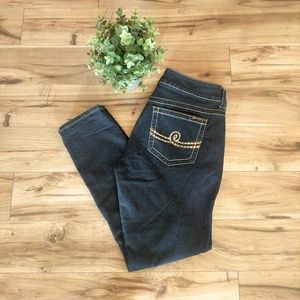 Seven7 Skinny Leg Stretch Jeans Dark Wash 12